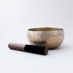 Antique Bronze Singing Bowl, 7.2 inches
