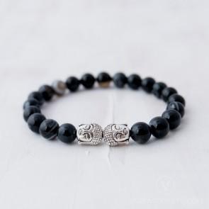 Blessed Banded Agate Buddha Bracelet