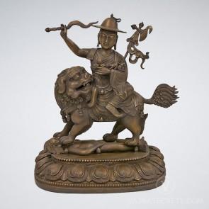 Peaceful Dorje Shugden Brass Statue, 18 inches