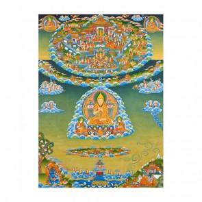 Lama Tsongkhapa from Gaden Heaven Thangka