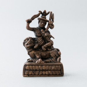 Dorje Shugden Copper Statue, 2.4 inches