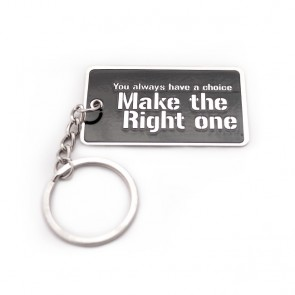 """Make the Right One"" Blog Keychain"
