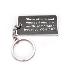 """You Are Worth Something""  Blog Keychain"