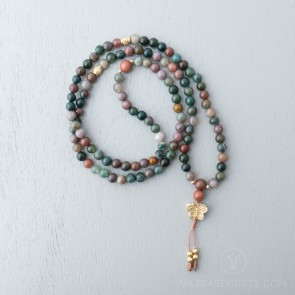 Blessed Butterfly Agate Mala