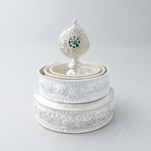 Silver Plated Mandala Set, 6.1 inches