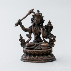 Manjushri Copper Statue, 2 inches