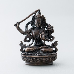 Manjushri Copper Statue, 3 inches