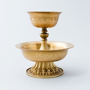 Carved Brass Serkym Set, 5 inches