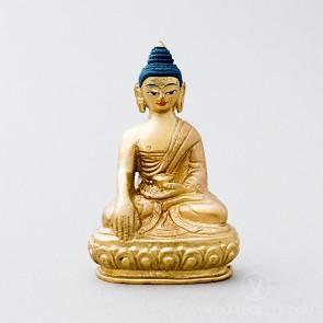 Shakyamuni Buddha Brass Statue, 3 inches