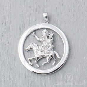 Gyenze White Gold Plated Round Pendant