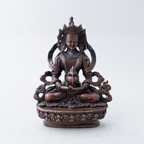 Amitayus Copper Statue, 3.5 inches