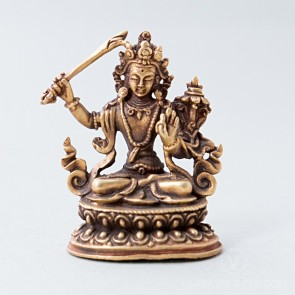 Manjushri Gold Statue, 2 inches