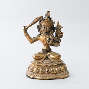 Manjushri Gold Statue, 3.5 inches