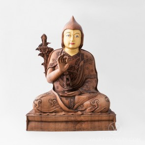 Tulku Drakpa Gyaltsen Wooden Statue - Tsem Rinpoche Collection