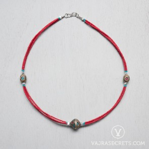 Tibetan Coral Beaded Necklace