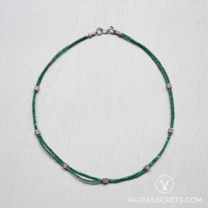 Tibetan Malachite Beaded Necklace