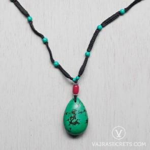 Tibetan Turquoise Macrame Necklace