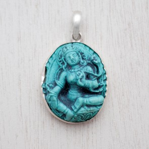 Blessed Green Tara Turquoise Pendant (Junior)