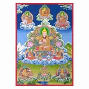 Lama Tsongkhapa 5 Visions Thangka
