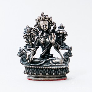 White Tara Silver Statue, 2 inches