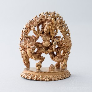 White Dzambala Gold Statue, 3 inches