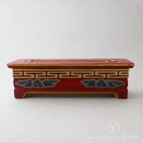Tibetan Wooden Incense Burner with Cloud Motif (Medium)