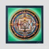 Green Kalachakra Mandala Thangka, Small