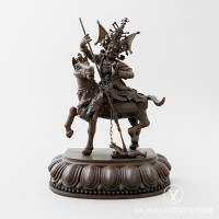 Kache Marpo Brass Statue with Oxidised Finish, 5 inches