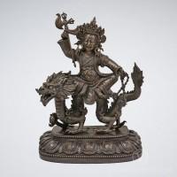 Wangze Brass Statue, 18 inches
