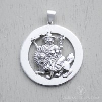 Dorje Shugden Emptiness Round Pendant