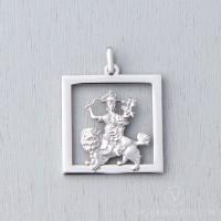 Dorje Shugden Stainless Steel Square Pendant