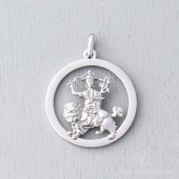 Dorje Shugden Stainless Steel Round Pendant