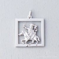 Gyenze Stainless Steel Square Pendant