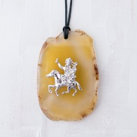 Gyenze Pendant with Golden Agate