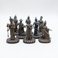Eight Guiding Monks Collection, 4 inches (Oxidised)