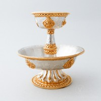 Gold and Silver Plated Serkym Set, 5.5 inches