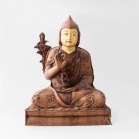 Tulku Drakpa Gyaltsen Wooden Statue - Tsem Rinpoche Collection