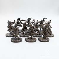 Ten Wrathful Attendants Collection, 4 inches (Oxidised)
