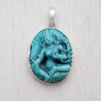Blessed Green Tara Turquoise Pendant (Junior)