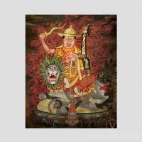 Dorje Shugden Thangka by Tsem Rinpoche (Vintage Effect)