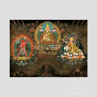 H.H. Zong Rinpoche Thangka (Vintage Effect)